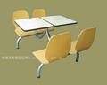 餐廳快餐桌椅.中式快餐桌椅.曲