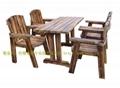 實木餐桌椅.火燒木餐桌椅 2
