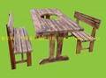 實木餐桌椅.火燒木餐桌椅 3