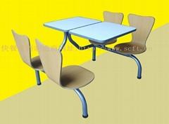 快餐桌椅.曲木快餐桌椅