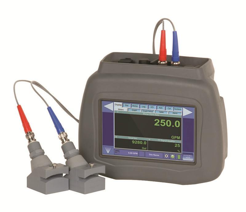 美國動聲觸屏便攜式超聲波流量計 2