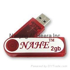 2gb Plastic Swivel USB Flash Drive