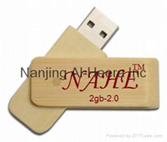 2gb Wood Swivel USB Flash Drive