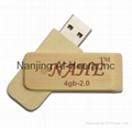 4GB Wood Twister USB Flash Drive