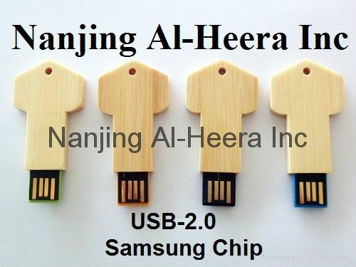 8GB Wooden Key USB Flash Drive 2