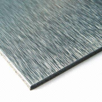 Brushed face aluminum composite panel  1