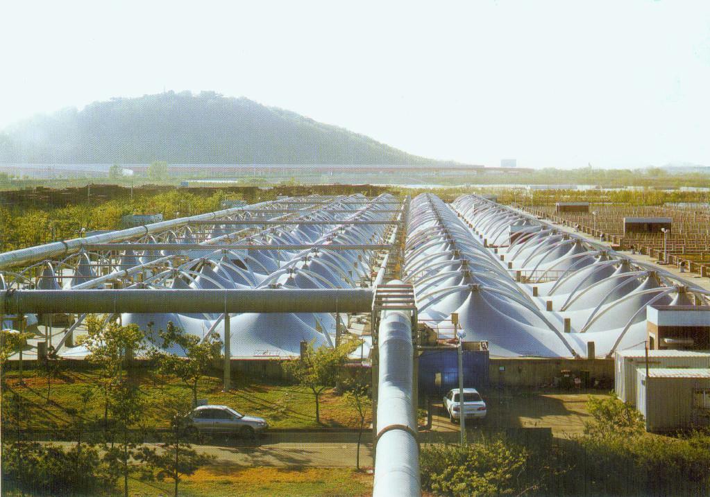 污水池,臭水池膜結構加蓋工程 2