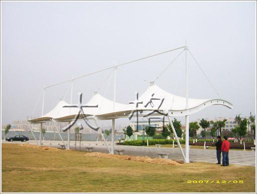 小區,廣場景觀遮陽膜工程 1