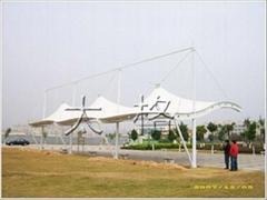 小区,广场景观遮阳膜工程