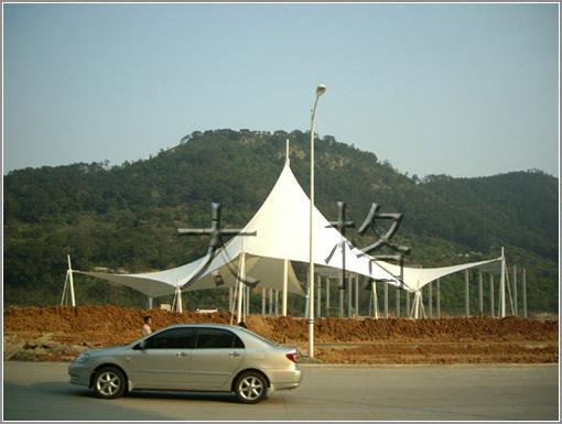 小區,廣場景觀遮陽膜工程 3
