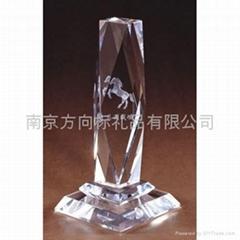 南京水晶奖杯奖牌定做