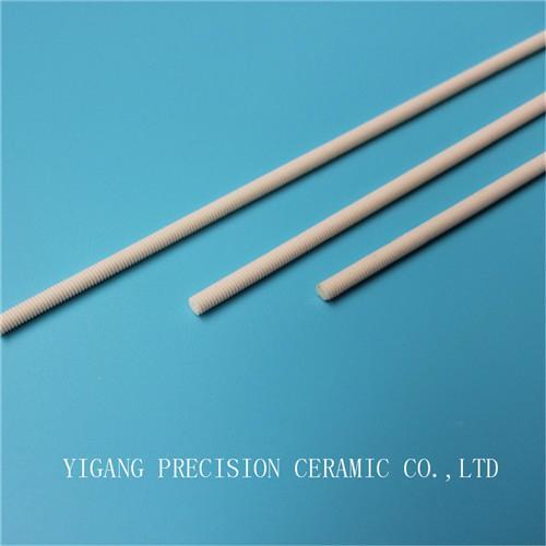 screw threaded alumina ceramic al2o3 insulating rods 1