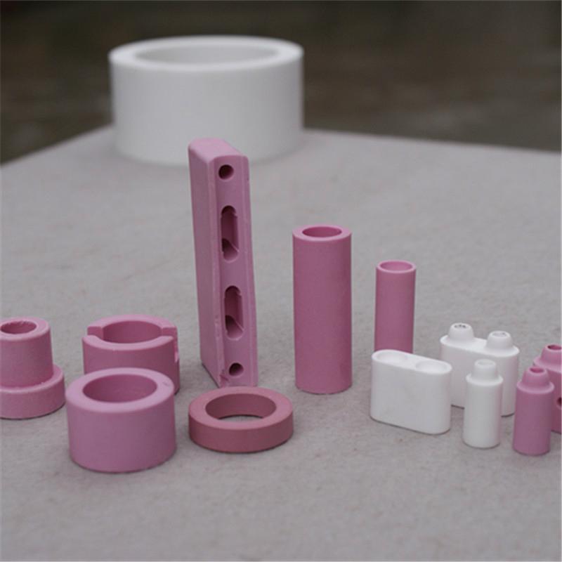 95 alumina ceramic beads white or pink 14