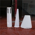95 alumina ceramic tubes / high temperature