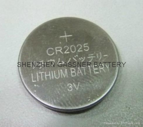 CR2025 3V lithium button cell battery for watches 3