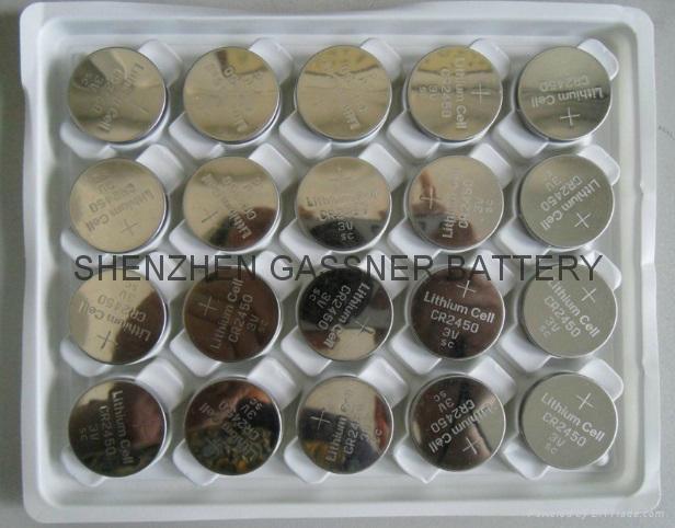 CR2450 3v lithium button cell battery coin cells 2