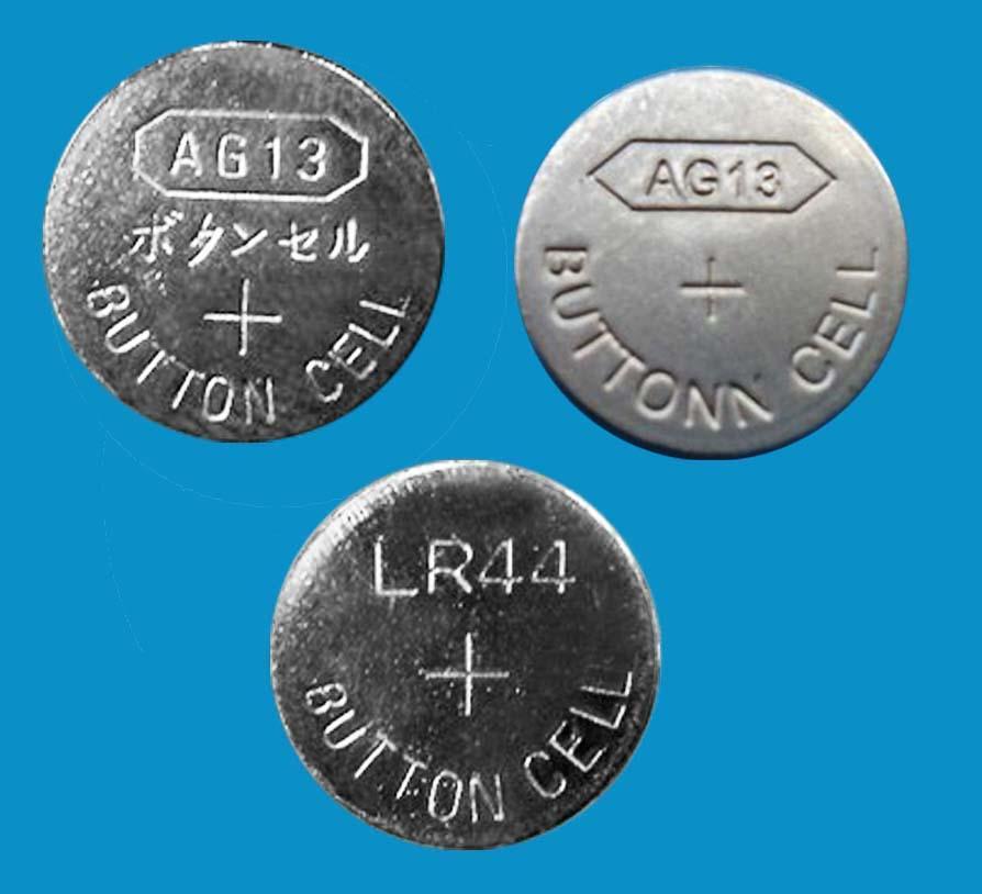 AG13 LR44 A76 1.5v alkaline button cells coin cells 3