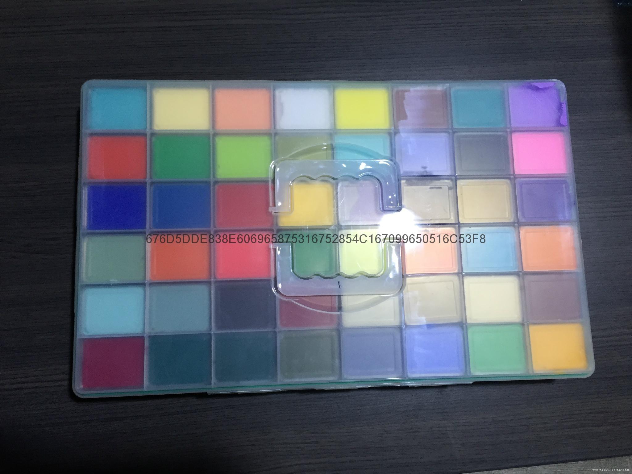 48格调色盒配套85毫升果冻杯水粉颜料 2