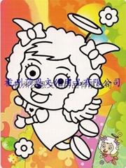 杭州莎恩低價供應彩色沙畫儿童玩具批發