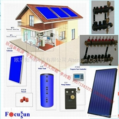 平板太阳能集热器系统