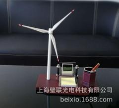 廠家直供辦公展示用品文案擺件風車禮品模型辦公文案展示