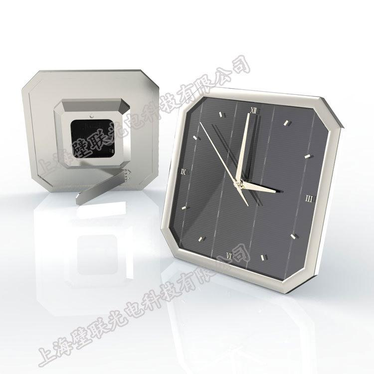 制作太阳能商务宣传赠品 办公桌面摆饰工艺品太阳能钟 3