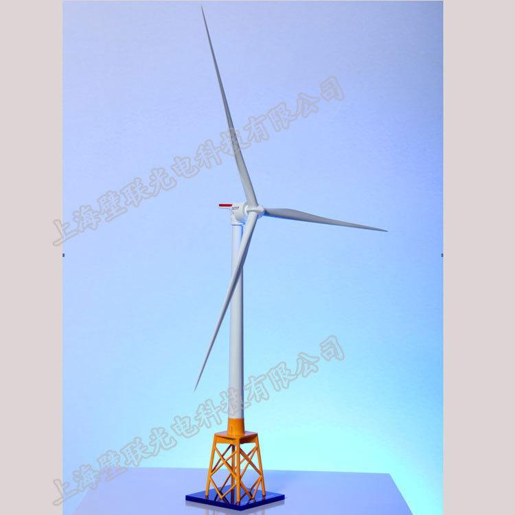 制作金属工艺摆件海上风力发电机模型 3