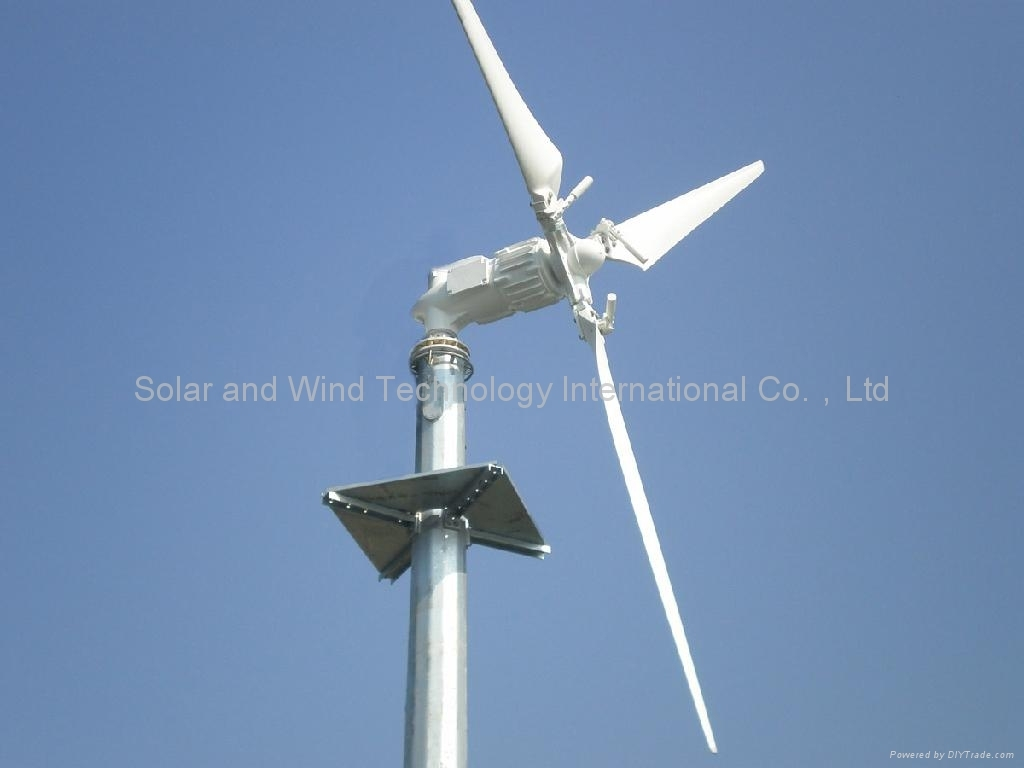 Variable blades pitch controll wind turbine
