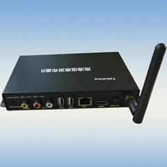 4K四核高清信息發布盒網絡廣告機播放盒