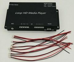 指令控制按键触发视频互动多媒体播放盒