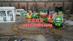 2015轨道火车广场电动小火车游乐设备