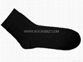 Short Black Crew Socks for Men and Ladies