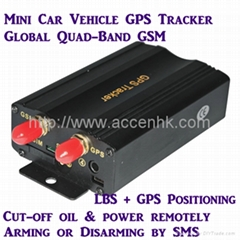GPS103A Global GSM AVL Car Vehicle GPS Tracker W/ Cut-off Oil & Power Remotely (Hot Product - 1*)