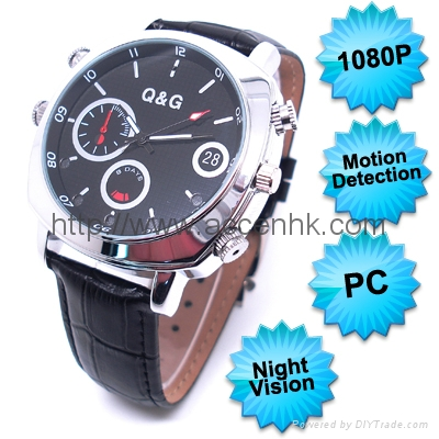 1080P Motion Detection Waterproof Spy Watch Camera Video Recorder Night Vision 1