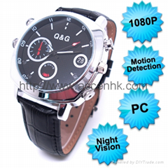 1080P Motion Detection Waterproof Spy Watch Camera Video Recorder Night Vision
