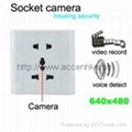 Voice Activated Wall Socket Camera Home