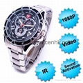HD 1080P Sound Activation IR Night Vision Spy Watch Camera Waterproof PC Webcam 1
