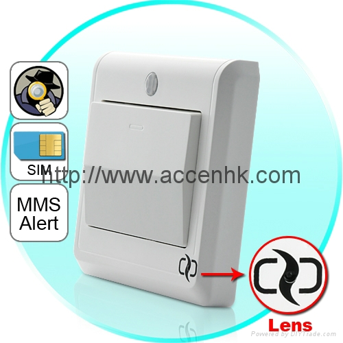 Hd Spy Camera Light Switch With Gsm Remote Control Motion