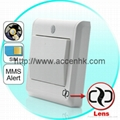 HD Spy Camera Light Switch with GSM