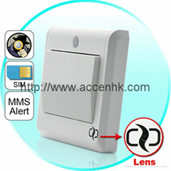 HD Spy Camera Light Switch with GSM Remote Control (Motion Detection, MMS Alert)