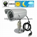 Waterproof 1/4 Inch CMOS CCTV Surveillance Camera TF Card Digital Video Recorder