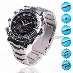 1080P IR Night Vision Wrist Watch Camera Waterproof Shock Resist OEM Manufacture