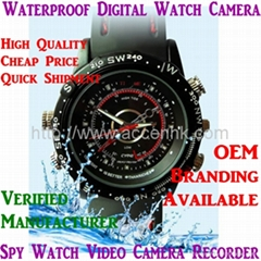 4GB Cheap Waterproof Spy Watch Camera Hidden Video Recorder DVR 0.3MP 720*480