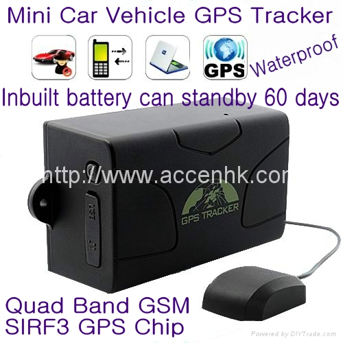 GPS104 Waterproof Global Car Vehicle GPS Tracker Support 60-day Long Standby