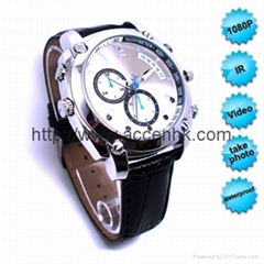FHD 1080P IR Night Vision Waterproof Watch Video Camera China OEM Manufacturer