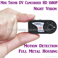HD 1080P Mini Camcorder Thumb DV Camera Night Vision Video Record Motion Detect
