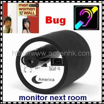 Mini Next Room Ear Amplifier Through Wall Door Listening Spy Surveillance Bug 1
