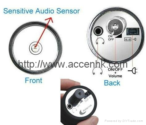 Mini Next Room Ear Amplifier Through Wall Door Listening Spy Surveillance Bug 4