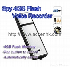 4GB Mini USB Hidden Spy Digital Voice Audio Recorder Flash Drive Memory Storage