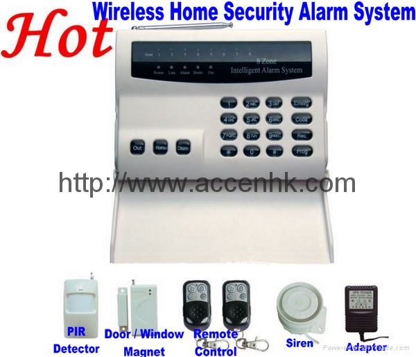Wireless 8 Zone Intelligent PSTN Telephone Landline Home ...